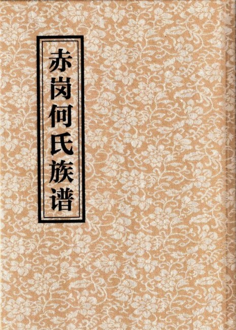 《赤岗何氏族谱》(封面)