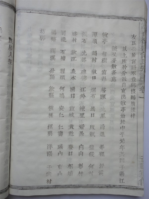 富春横槎何氏宗谱:各派里居地名